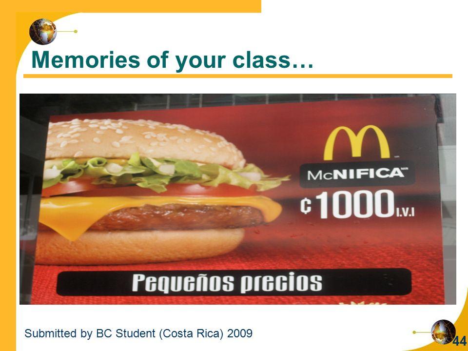 Memories of your class…