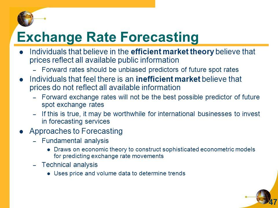 Exchange Rate Forecasting