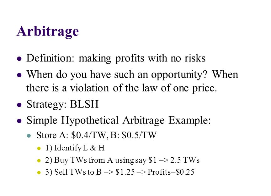 Caveats: With Bid-Ask Prices 1) Prices or American terms