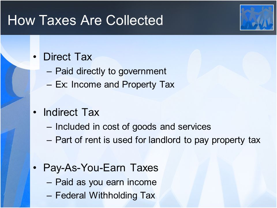 How Taxes Are Collected