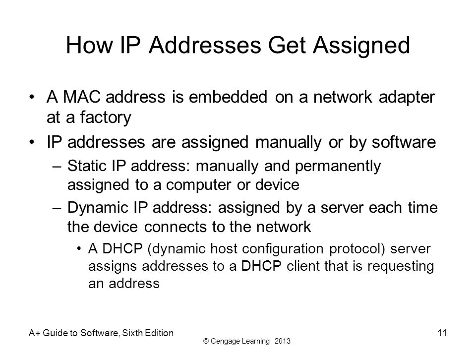 who assigns ip addresses Before understanding the process of ip address assignment, it is important to know some key technical terms that are used in context of the dhcp serverdhcp address pooldhcp address pool is a .