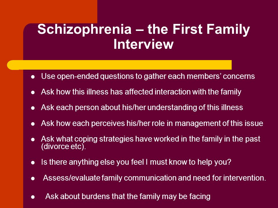 Case study schizophrenia patients