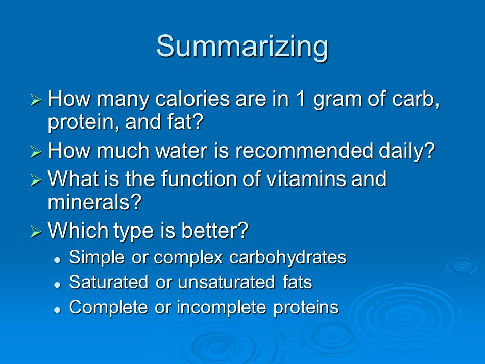 What are the six basic nutrients ppt video online download for How many carbs in fish