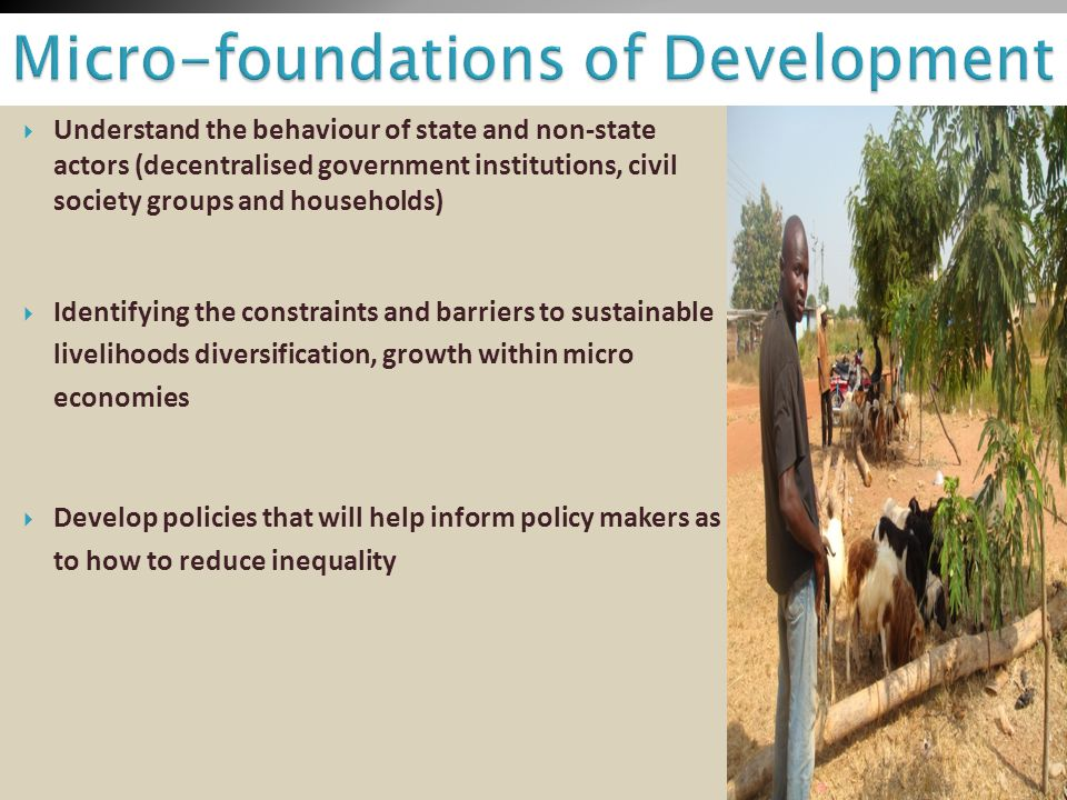 Micro-foundations of Development