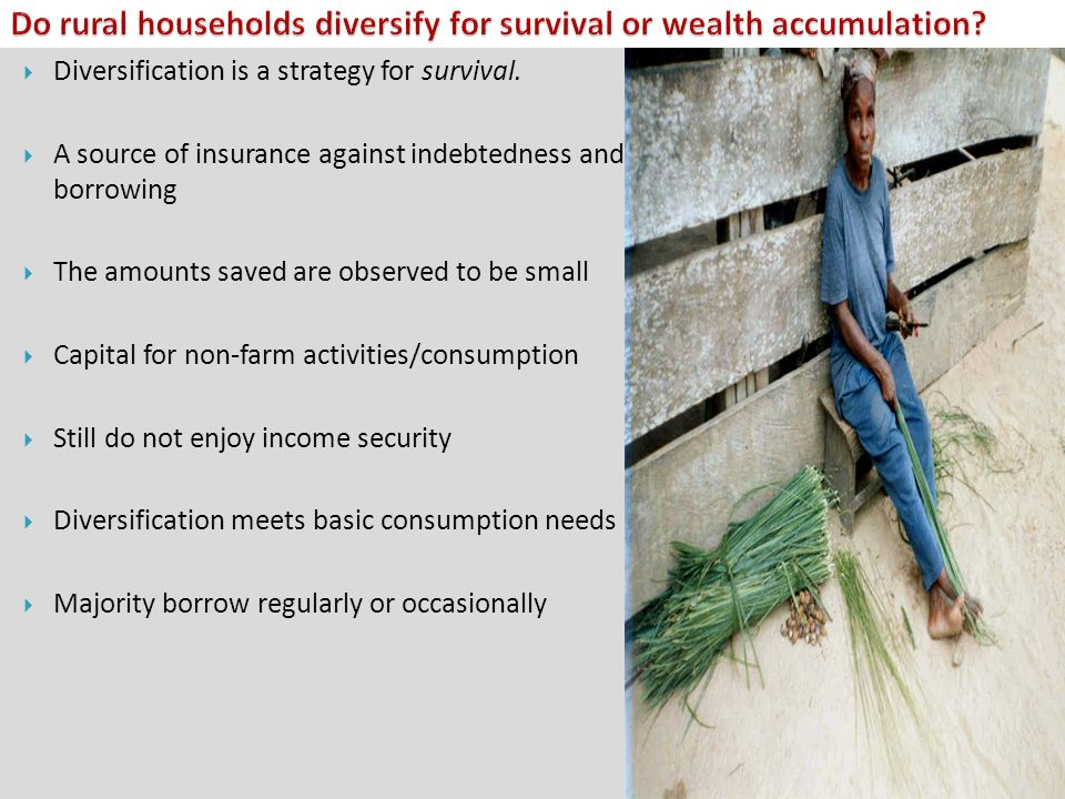 Do rural households diversify for survival or wealth accumulation