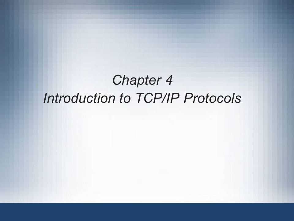 an introduction of tcp ip protocol Start studying chapter four: introduction to tcp/ip protocols learn vocabulary, terms, and more with flashcards, games, and other study tools.