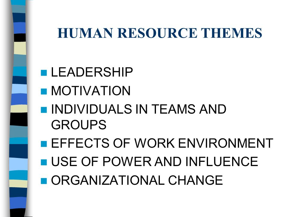 The Motivational Theories of Human Resource Managers