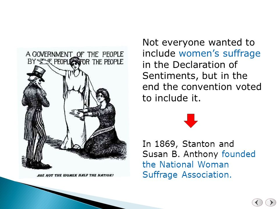 thesis statement susan b anthony Susan b anthony & the women's suffrage movement sub-point #1 thesis statement susan b anthony played a major role.