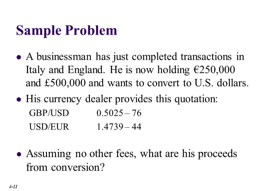 Sample Problem Solution
