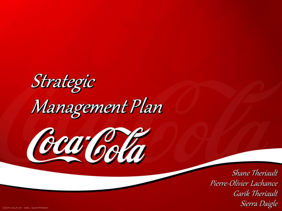 coca strategic planning and coca cola company • it's the first time the coca-cola company's sponsorship of a major international sporting event - rugby world cup 2015 - will promote all three variants, and champion coca‑cola with zero calories.