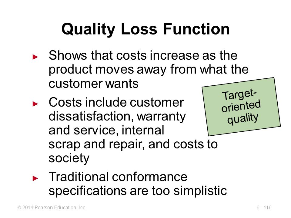 Target-oriented quality