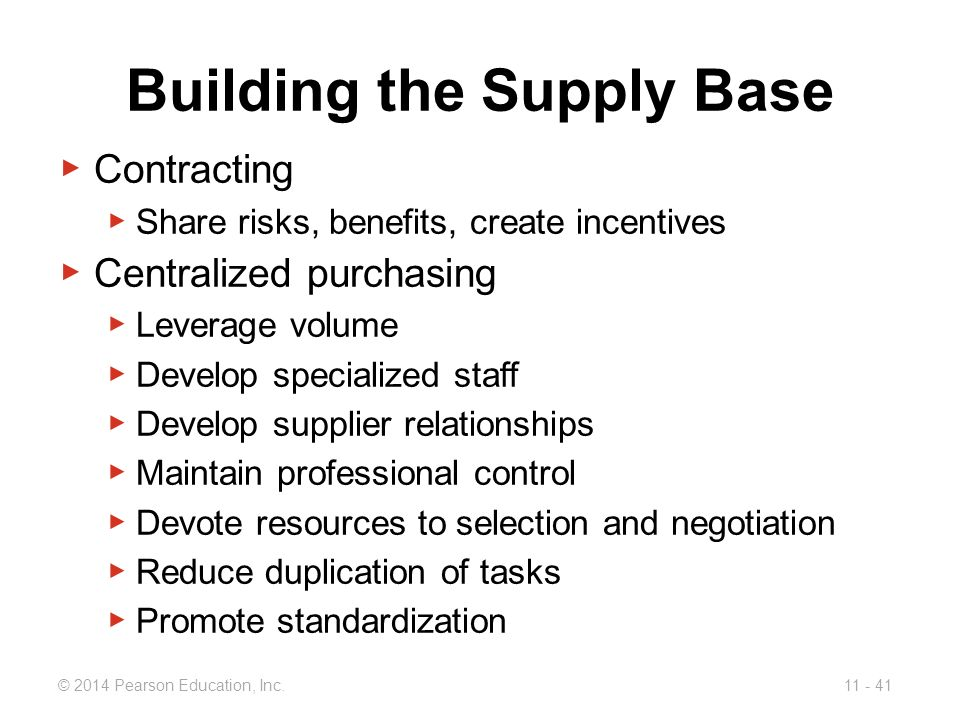 Building the Supply Base