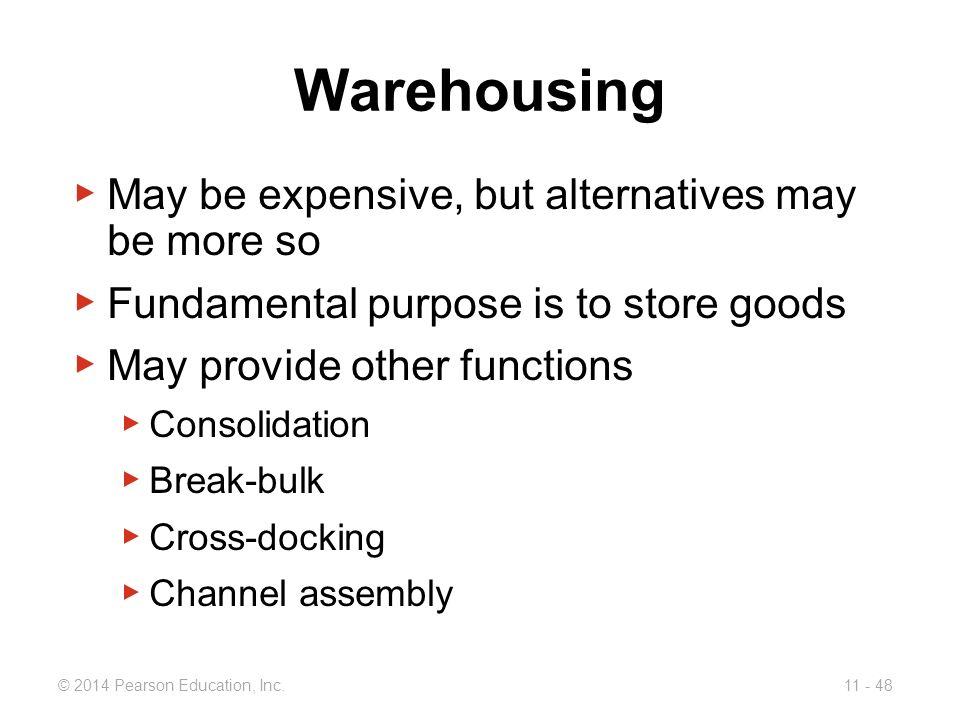 Warehousing May be expensive, but alternatives may be more so