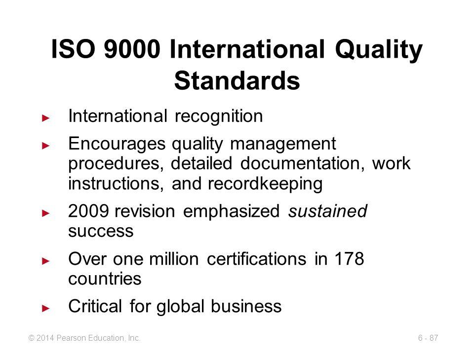 ISO 9000 International Quality Standards