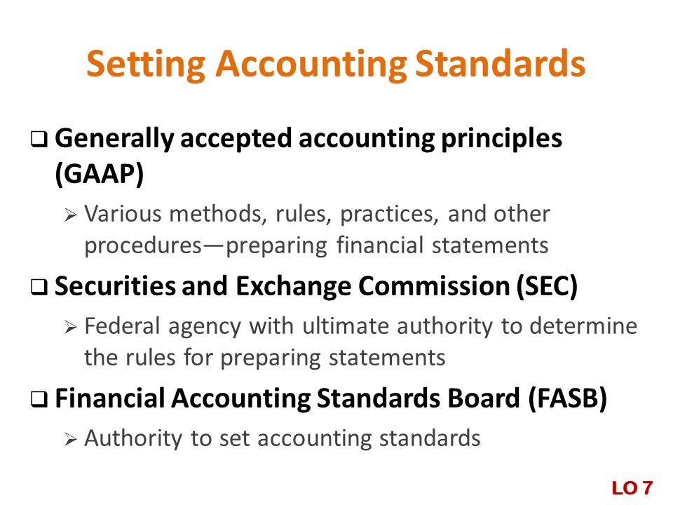 Setting Accounting Standards