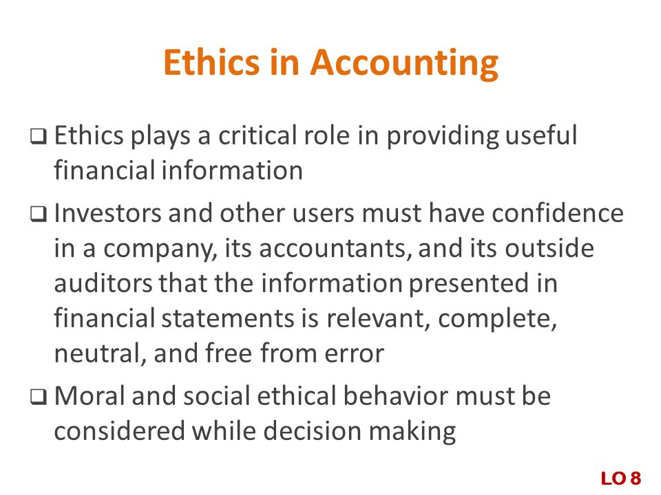 role of ethics in financial reporting Video: the importance of ethics in accounting ethics - are they really important in accounting in this lesson, we will discuss what ethics are and what role they play in accounting we'll also.