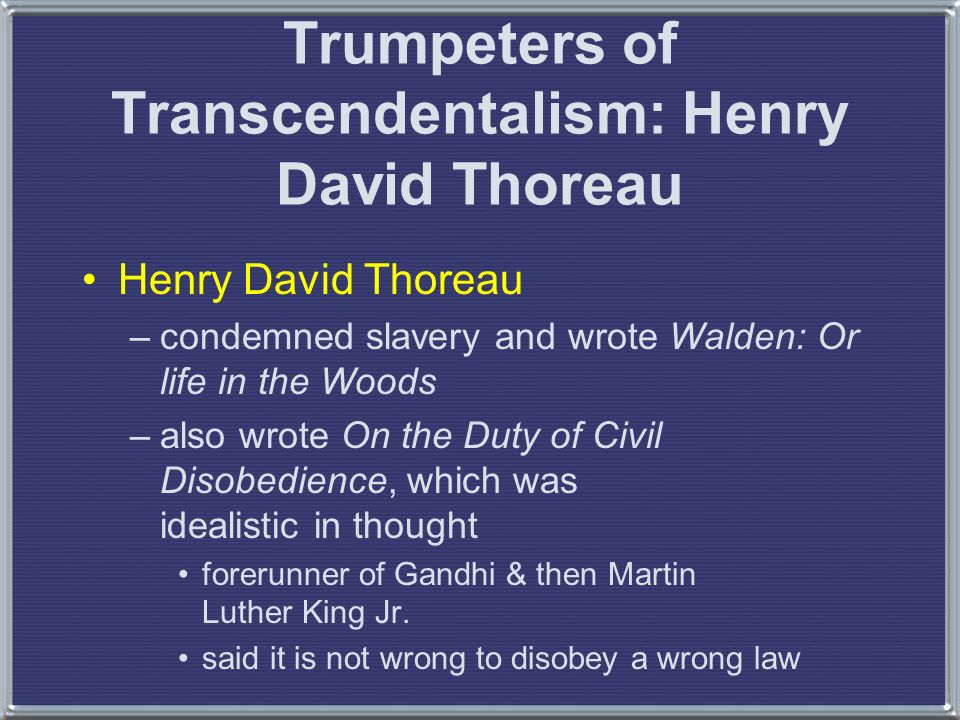 an analysis of the topic of the civil disobedience by henry david thoreau