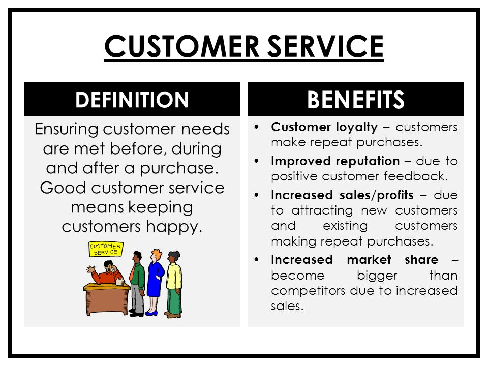 benefits of after sales service You want products or services with features which customers perceive as  valuable benefits by highlighting benefits in marketing and sales.