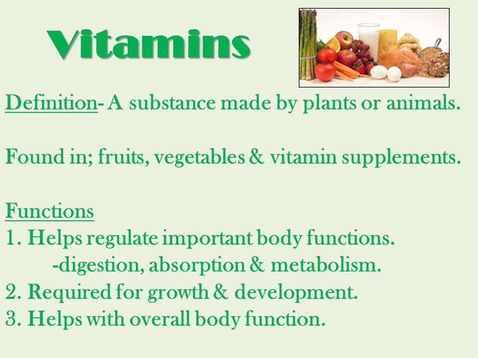A nutrient is a. compound in food that. the body requires