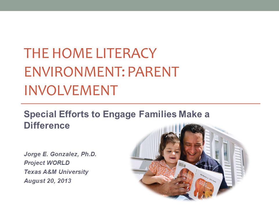 parent involvement in emergent literacy activities Understanding the power of parent involvement   parental involvement in literacy activities and volunteer activities in the community in california, florida and .