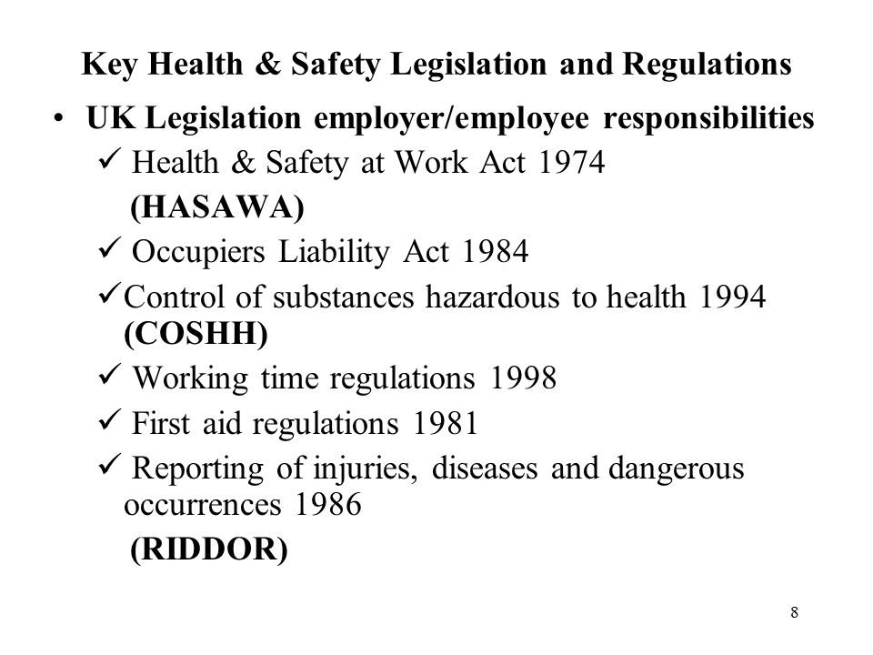 Occupiers liability act 1995 essay
