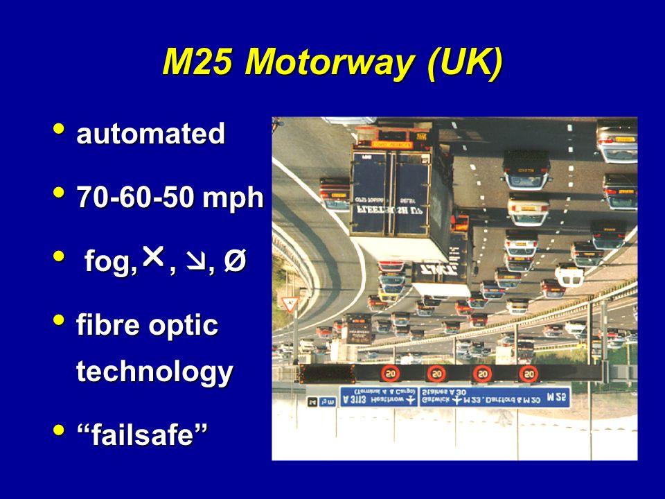 M25 Motorway (UK) automated 70-60-50 mph fog,, , Ø