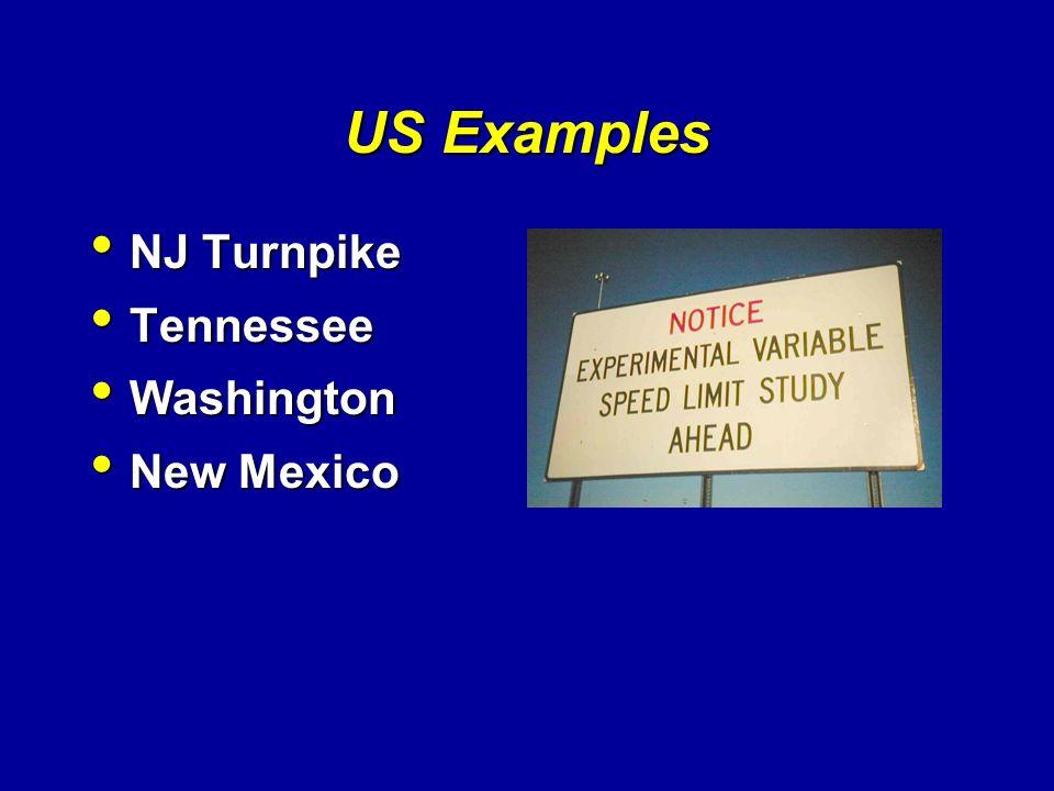 US Examples NJ Turnpike Tennessee Washington New Mexico