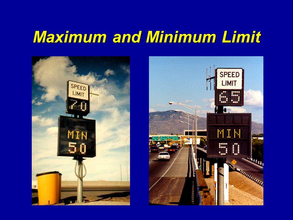 Maximum and Minimum Limit