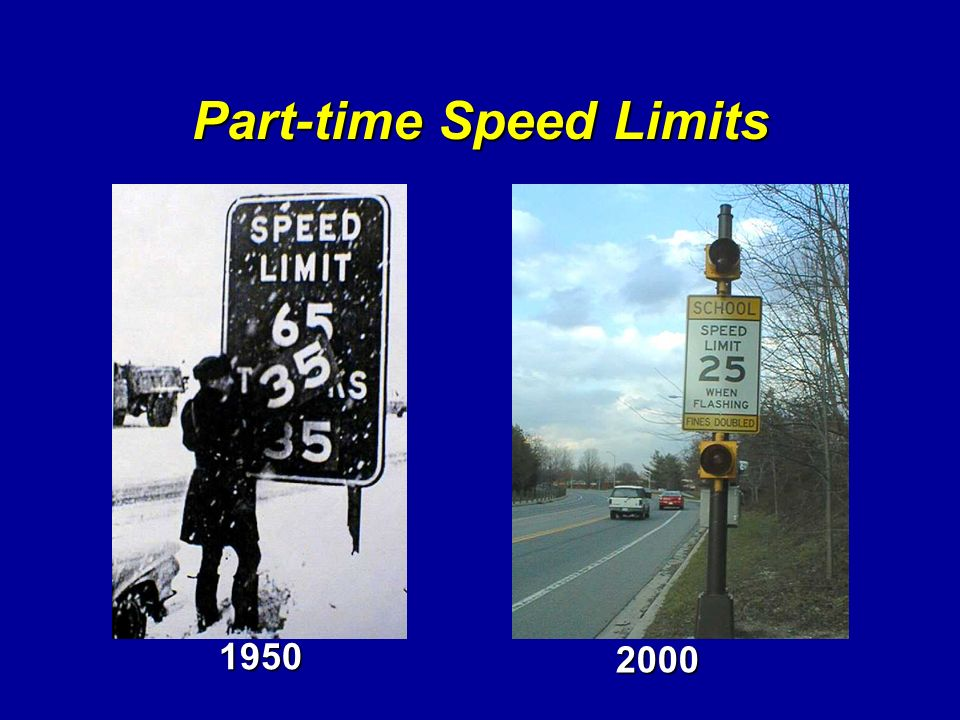 Part-time Speed Limits
