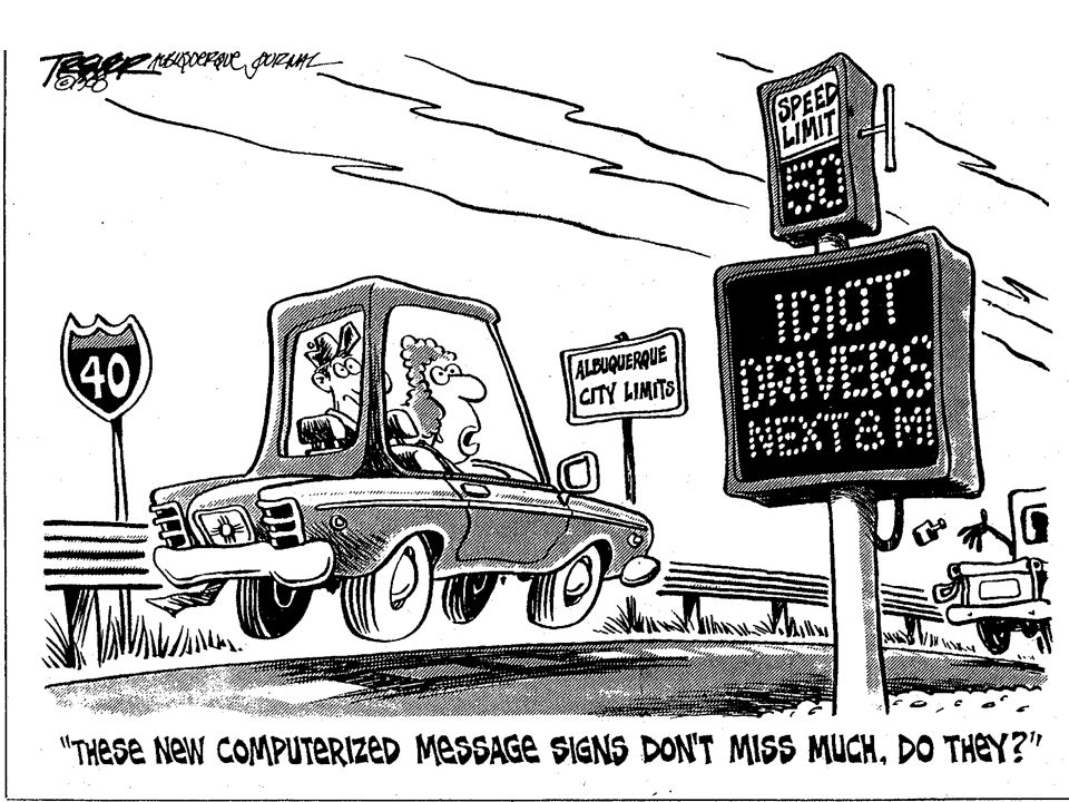 I will draw heavily from my experience with the development of a prototype variable speed limits system in the late 1980's and tested on a section of I-40 in Albuquerque, NM