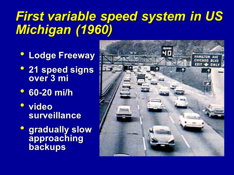 First variable speed system in US Michigan (1960)