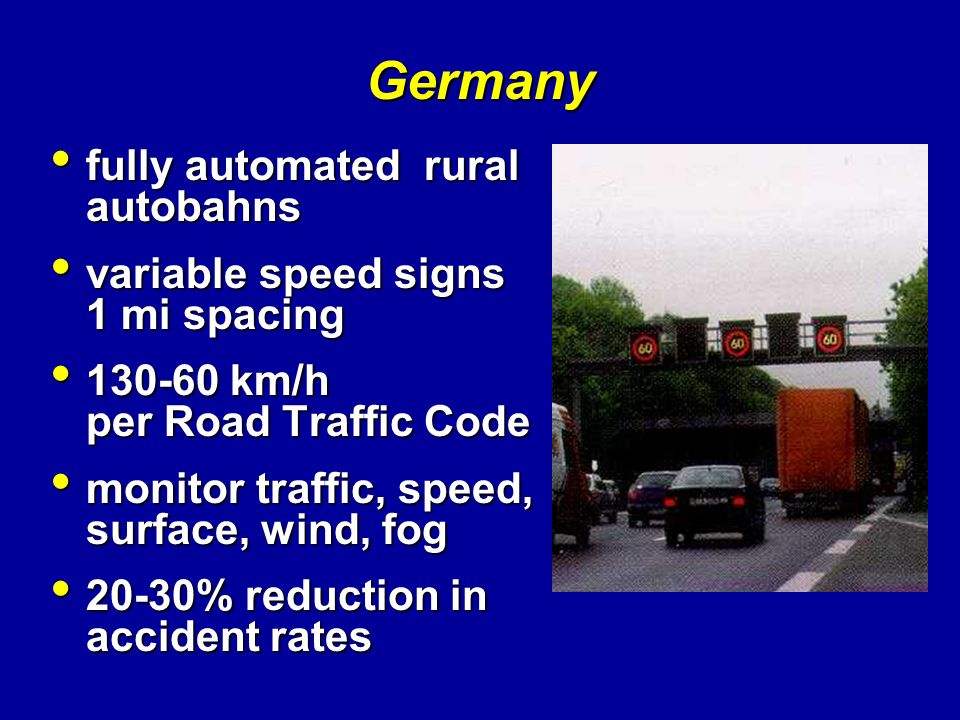 Germany fully automated rural autobahns