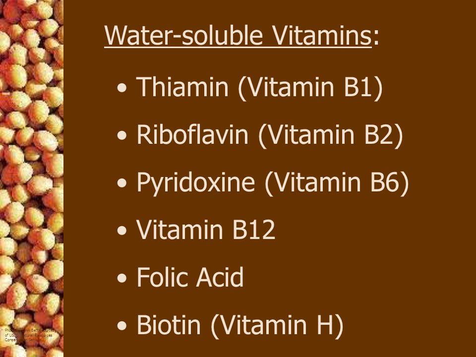 Water-soluble Vitamins: