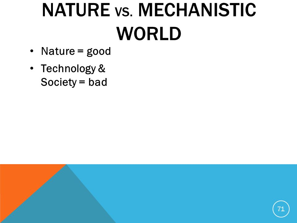 Nature Vs Mechanistic World Archetype