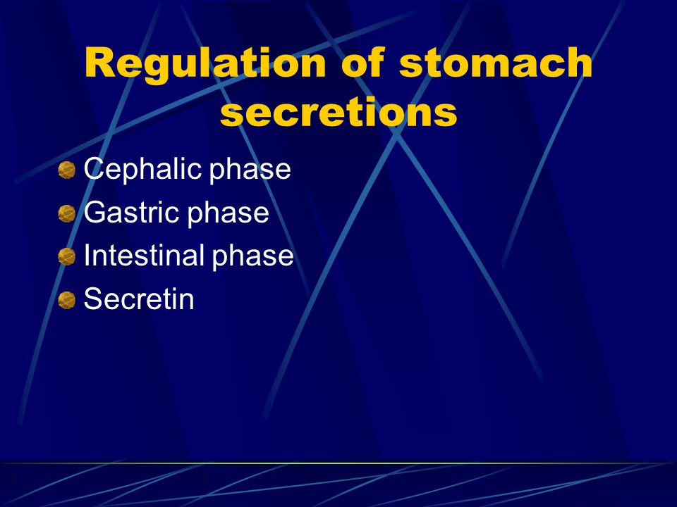 Regulation of stomach secretions