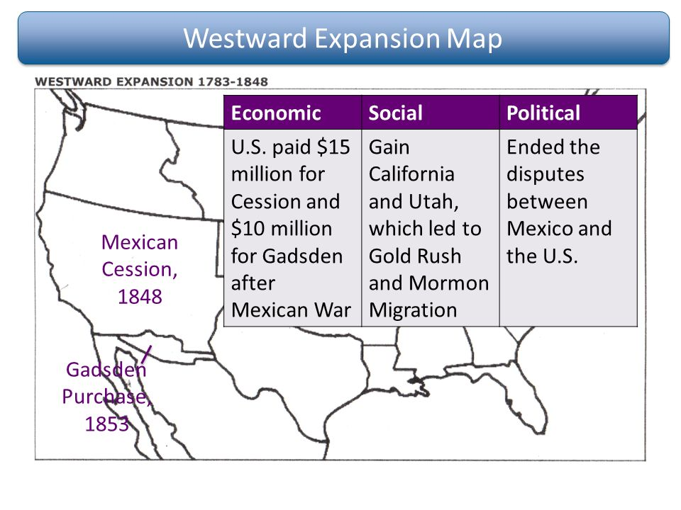 an analysis of the causes of the american expansion westward The causes of westward expansion were the purchase of the louisiana territory from france, the lewis and clark expedition, president thomas jefferson's vision of.