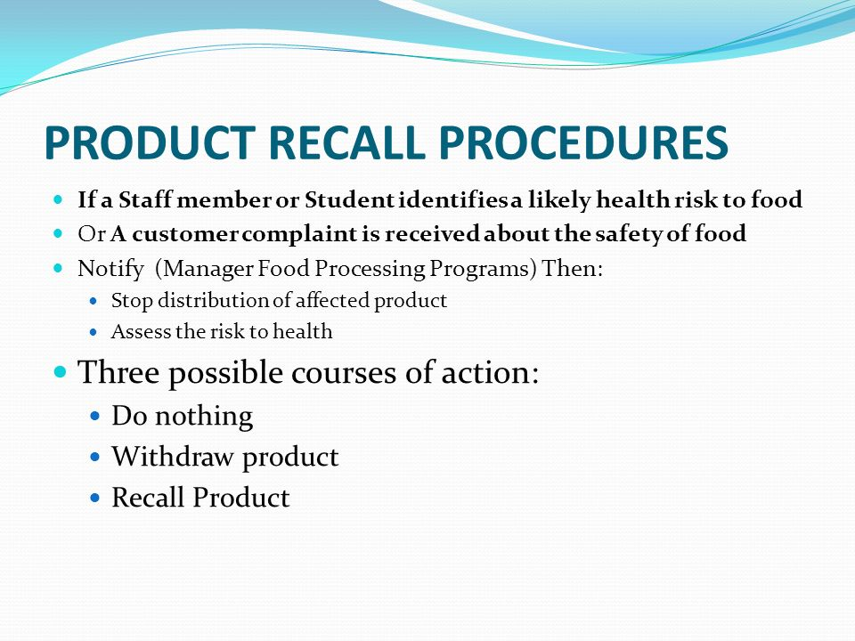 Product recall process flowchart flowchart in word for Fda sop template