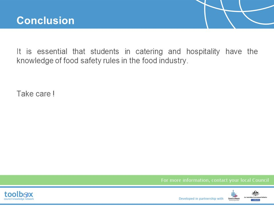 conclusion on food industries This is true for our pest analysis example for the food industry  in conclusion the food industry is seeing a large shift due to consumer consciousness.