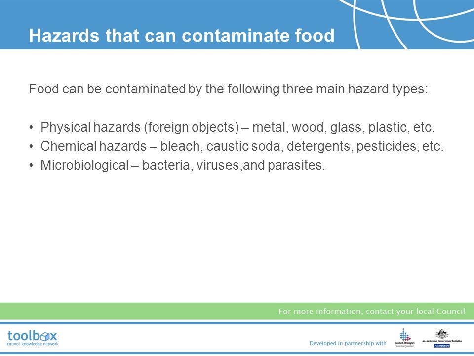 Three Hazards That Can Contaminate Food
