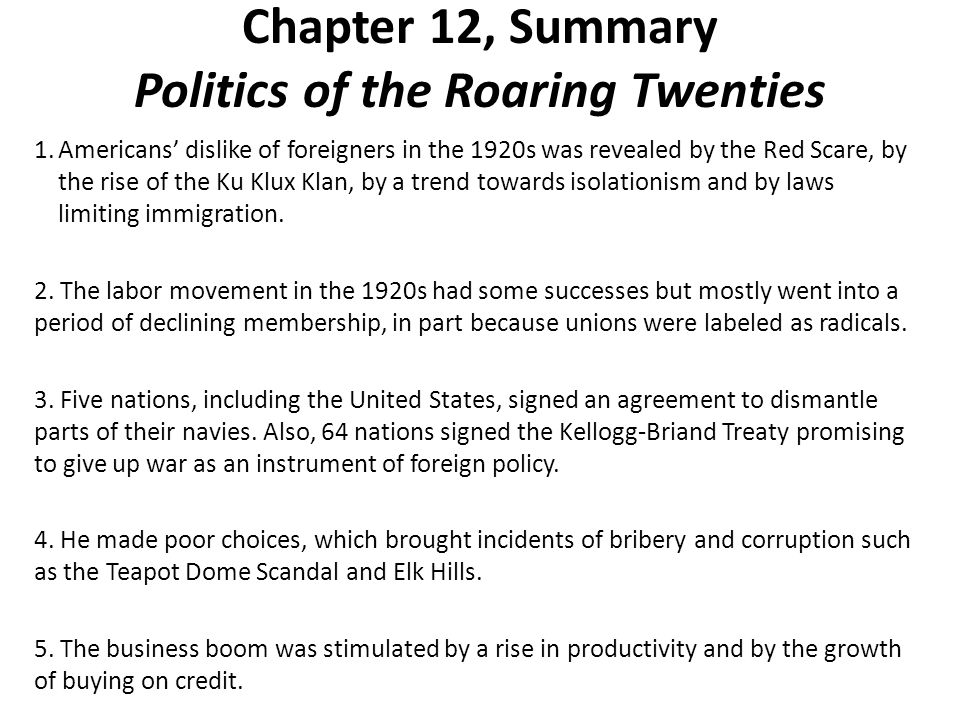 "an overview of the roaring 20s Written by marcia amidon lusted and illustrated by jennifer k keller, ""the  roaring twenties"" is an informative, engaging account of one of the."