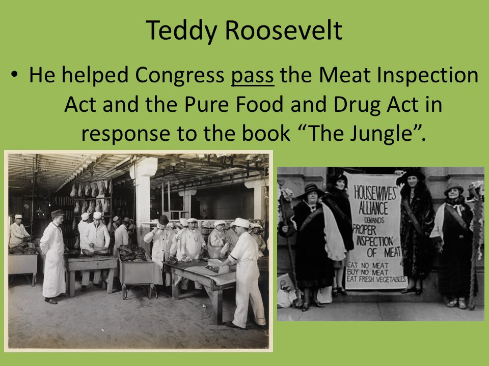 "progressivism theodore roosevelt and meat inspection 2014-9-18  progressivism emerged in both  muckrakers – term coined by theodore roosevelt for the journalists who ""dug up  meat inspection act in 1906."