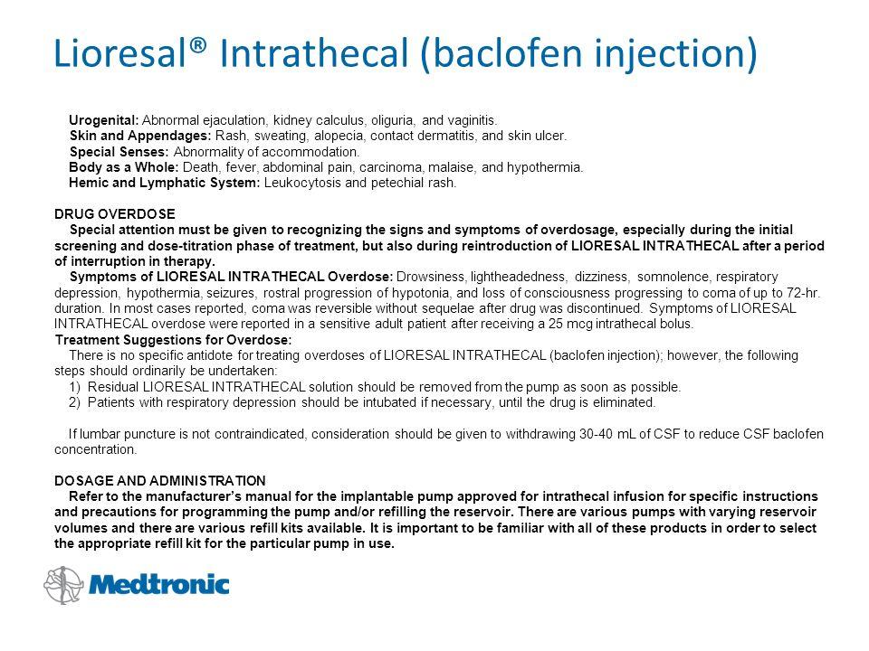 Lioresal Intrathecal Refill Kit
