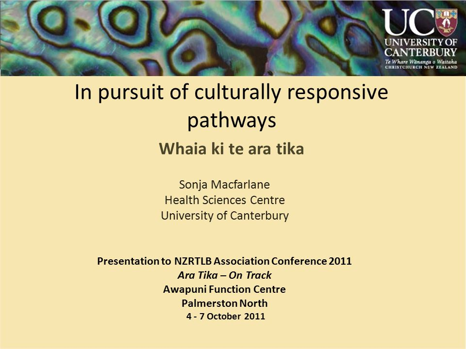 a canterbury presentation