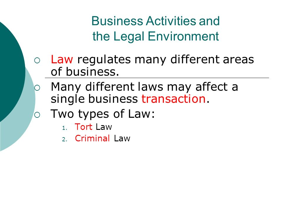 laws that affect the business The effect of business laws introduction  mentioning a literature review, sources of business law, different laws affecting businesses, laws regarding commerce and industry in south.