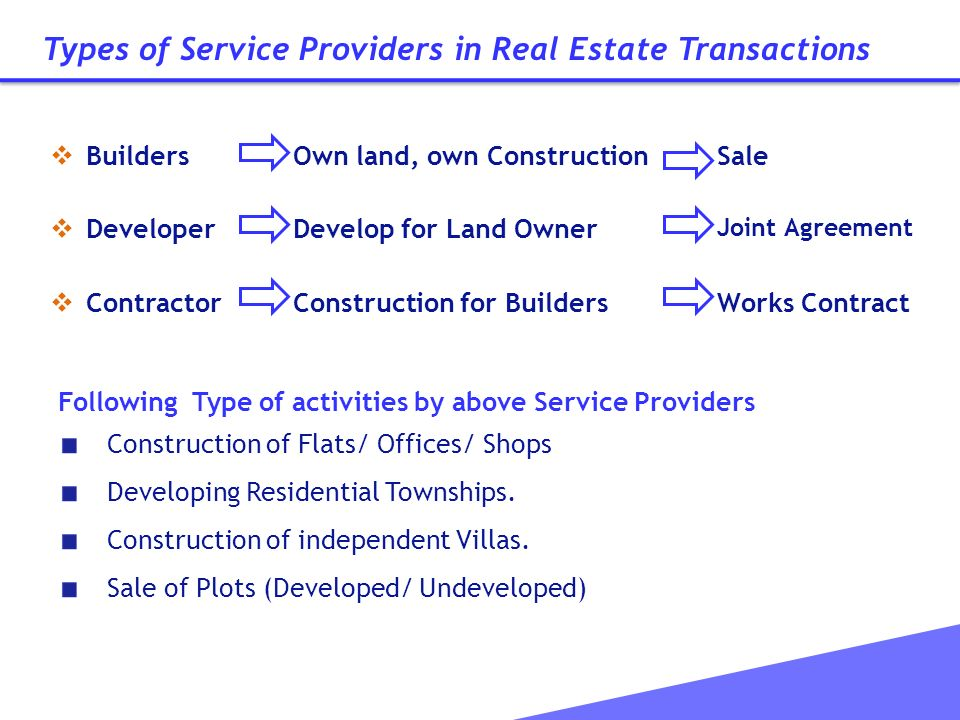 Service Tax Issues On Construction Of Residential Complex - Ppt