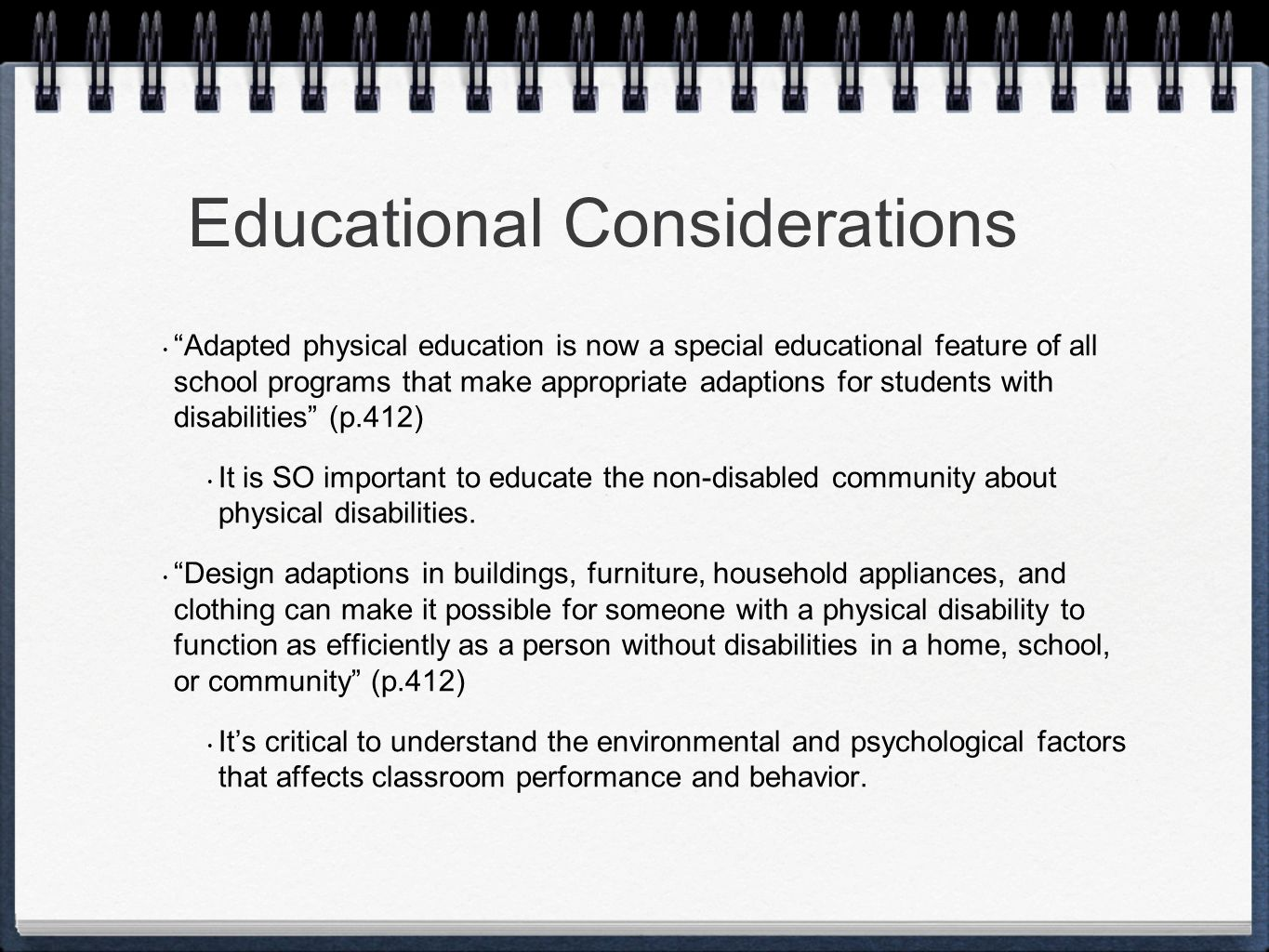 Classroom Design And How It Influences Behavior ~ Children with physical disabilities and other health