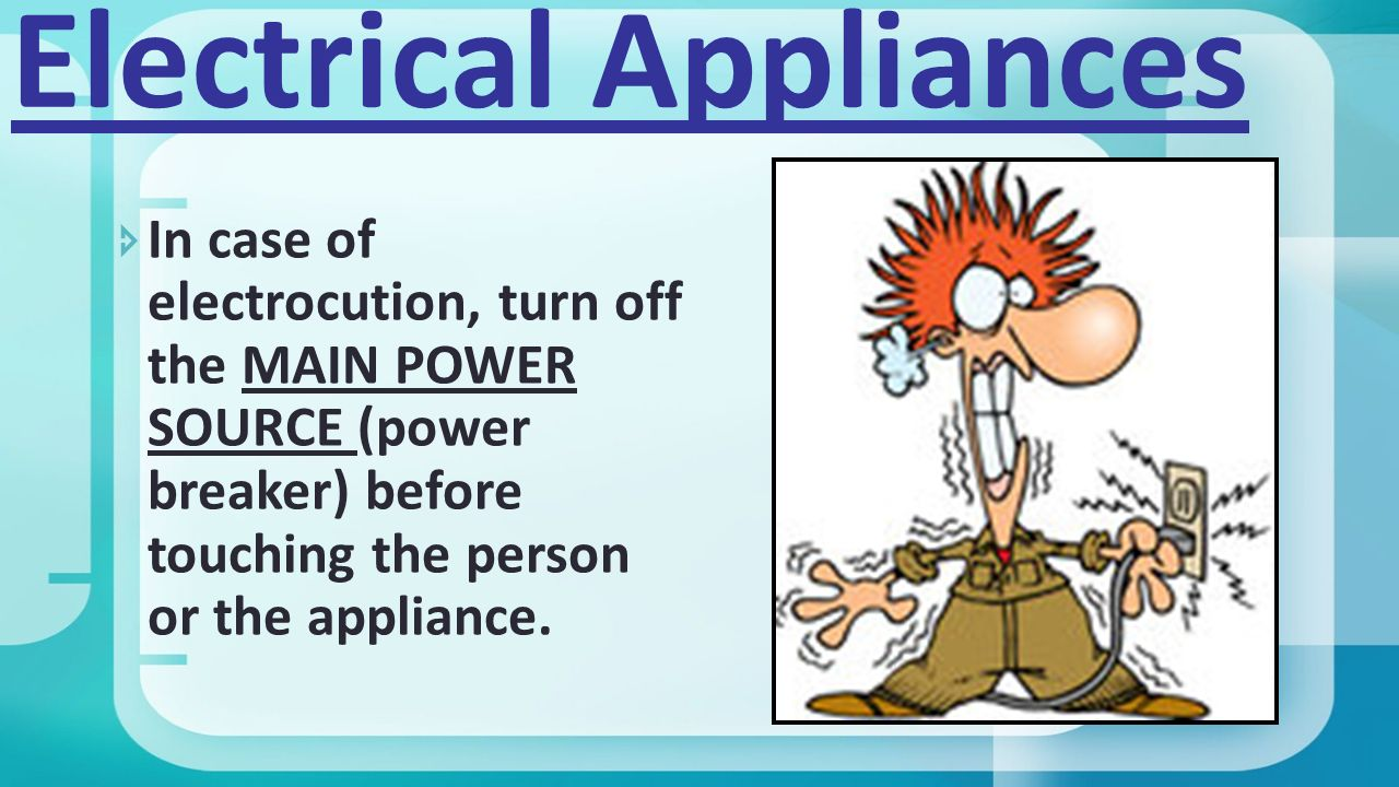 Kitchen safety poster project - 4 Electrical Appliances