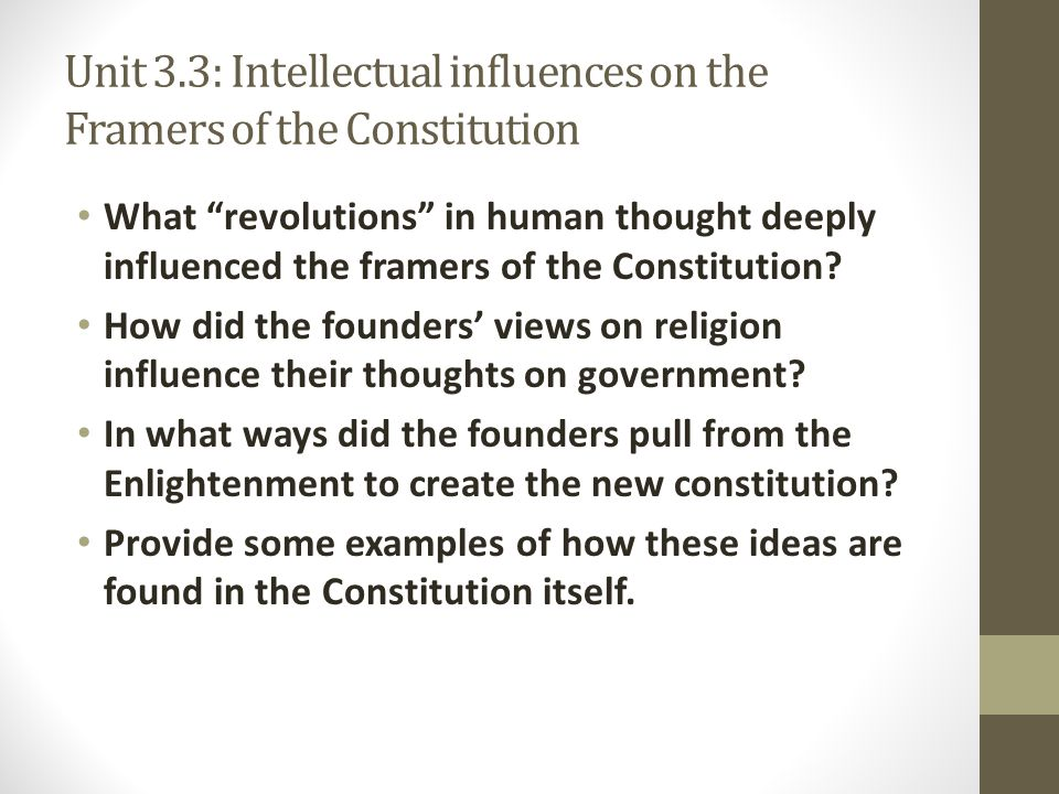 christian influence on the constitution Chapter 8 article 5: inherent when someone chooses both the bible and the constitution – as christian 4 recalling the christian influence on the writing of.