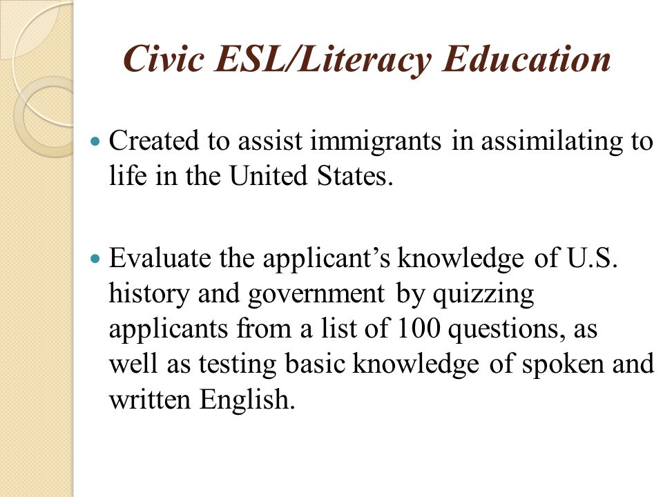 Adult Literacy Educational Programs