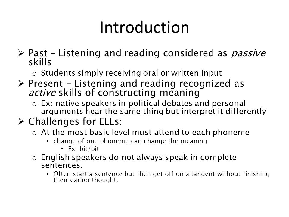 reading writing and listening as the basic most important skills to be obtained Start studying praxis ii teaching reading learn can read some important-to-them create an environment that promotes active reading, writing, listening.